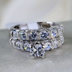 Jewelry - Women's 925 stamped wedding 2 pc engagement ring